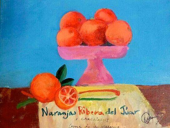 bodegón-cuadro-naranjas-ribera-del-jucar-fundacion-ONCE